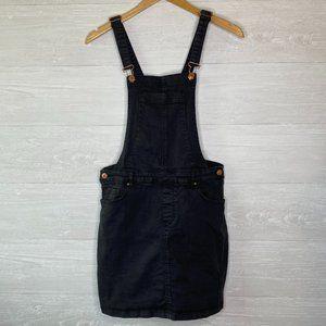PacSun Women's Black Overall Mini Dress Size M